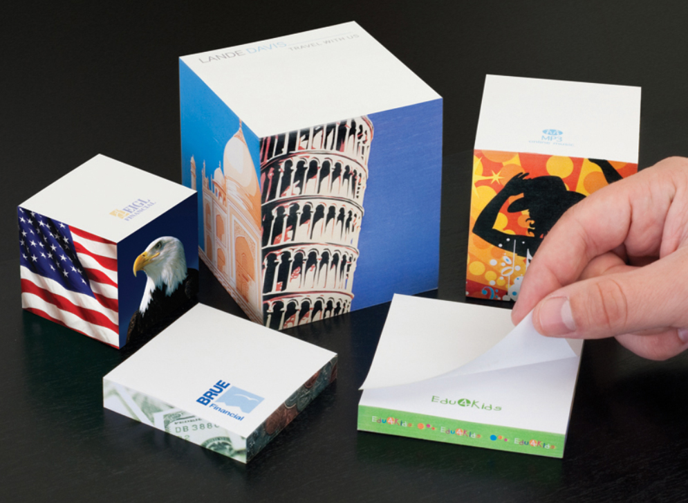 Custom Printed Post It Note Cube Pads